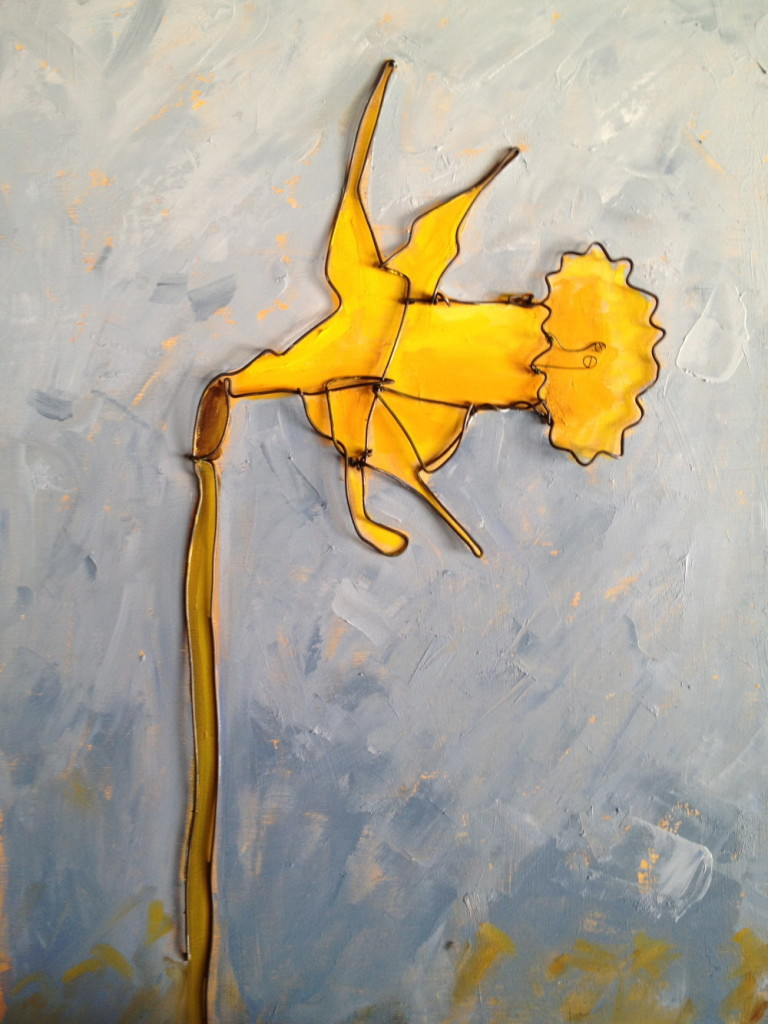 Flower Wire art   Wire Painting