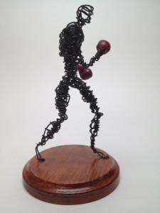 Wire Sculpture Study Boxer