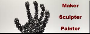 Wire sculpture banner