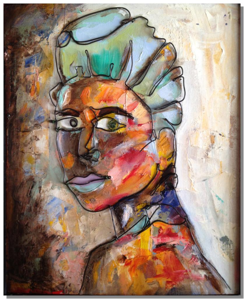 Wire art   Woman