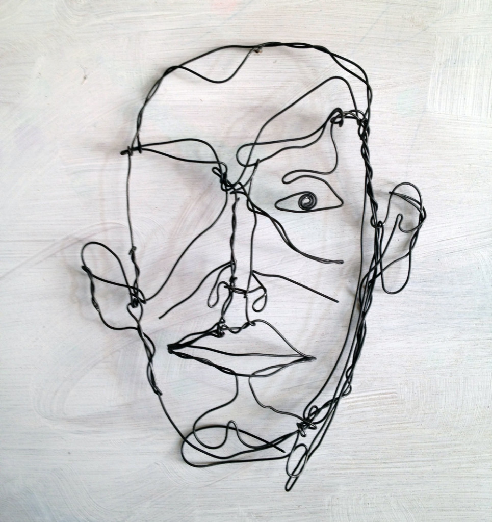 Wire drawing sketch man