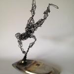 Wire Sculpture Man - wire art