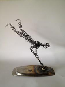Wire Sculpture Man 1 - wire art