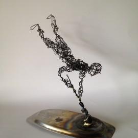 Wire Sculpture Man 2 - wire art