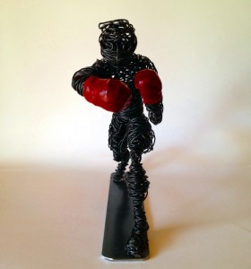 wire art Boxer clout-s