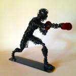 wire art boxer sculptuer clout-s 4