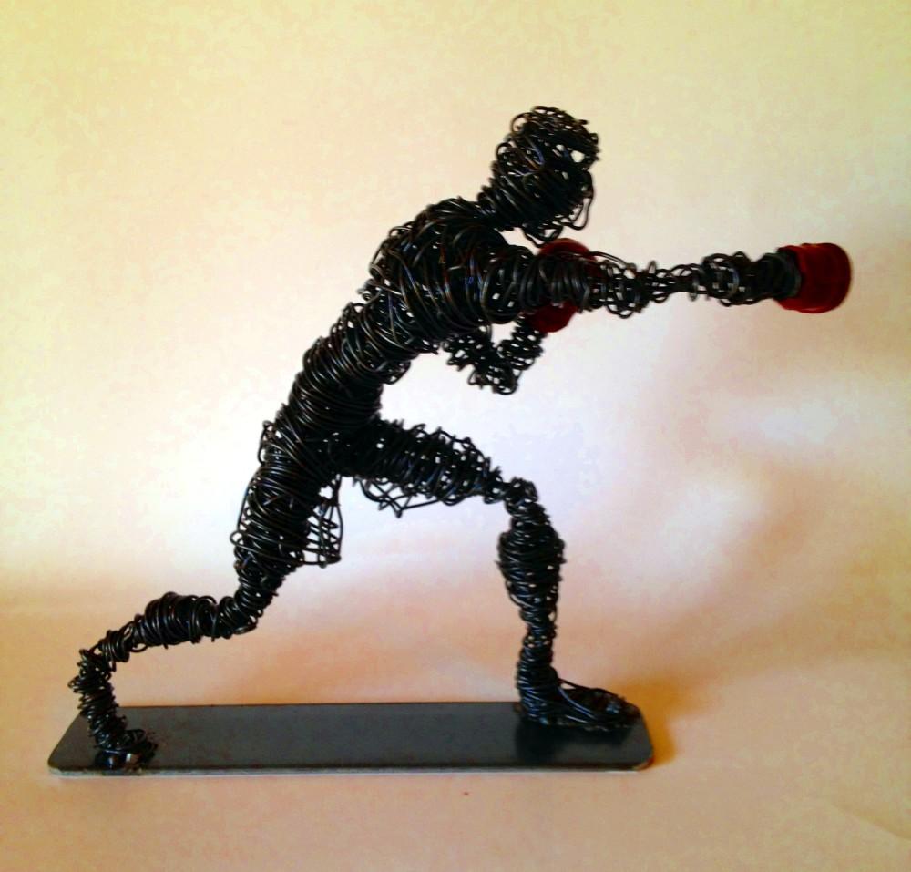 wire sculpture Boxer clout-s 5