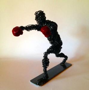 wire sculpture boxer clout-s 2