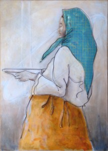 Wire painting- Prayer