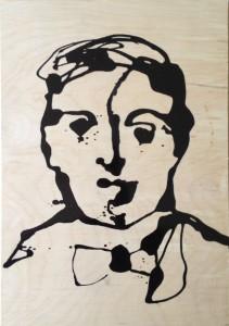 Frank Marino Baker Drip painting Bow tie man
