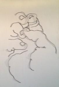 Wire Hand sculpture 1