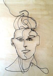 Woman 1 Wire Art Sketch