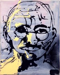 gandhi drip painting by Frank M Baker