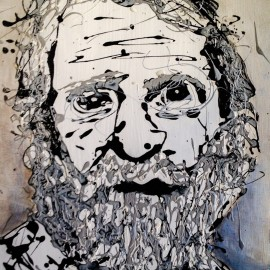 The Beard Drip Painting By Frank Marino Baker