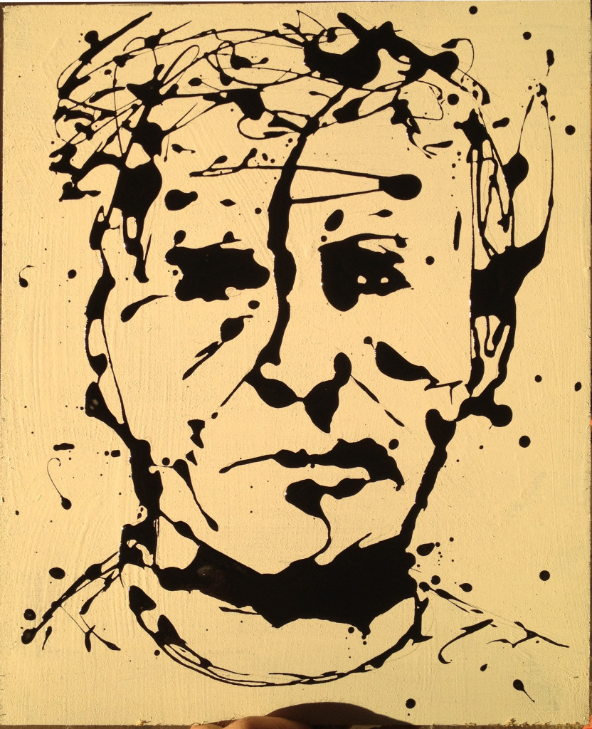 drip painting Frank Marino Baker