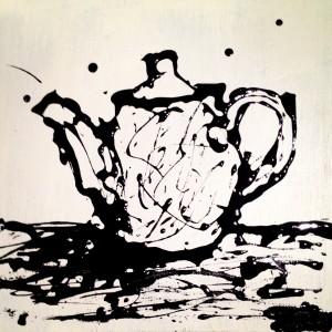 """Morning Tea"" Drip Painting"