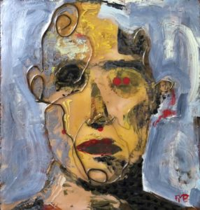 Faces of cancer #9 by Frank Marino Baker
