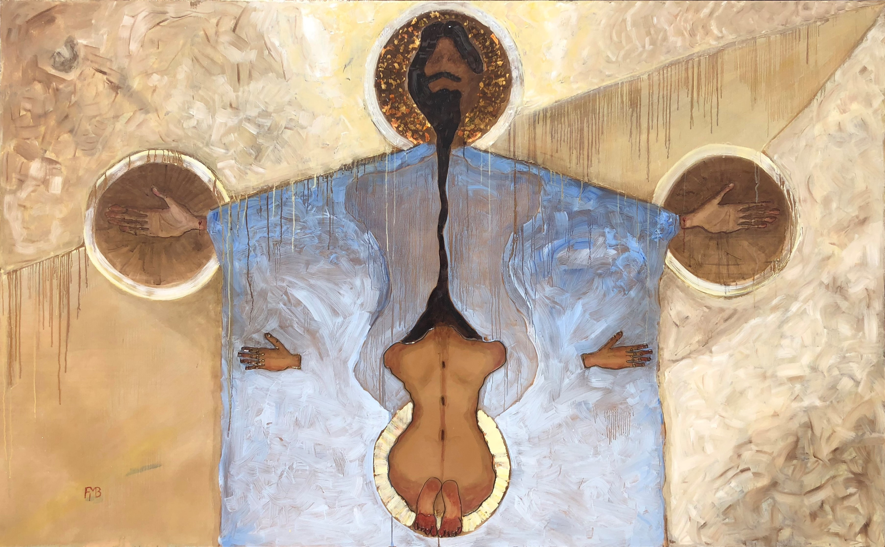 """Christ """"The connection"""" painting By Frank Marino Baker"""