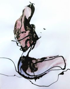 Woman Drip painting by Frank Marino Baker