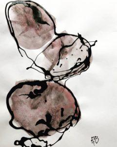 Abstract Art Drip painting Frank Marino Baker