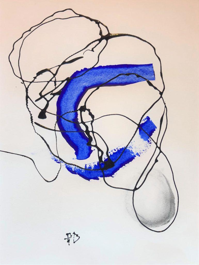 abstract Drip painting Frank Marino Baker