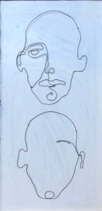 Faces #11 Abstract Wire By Frank Marino Baker