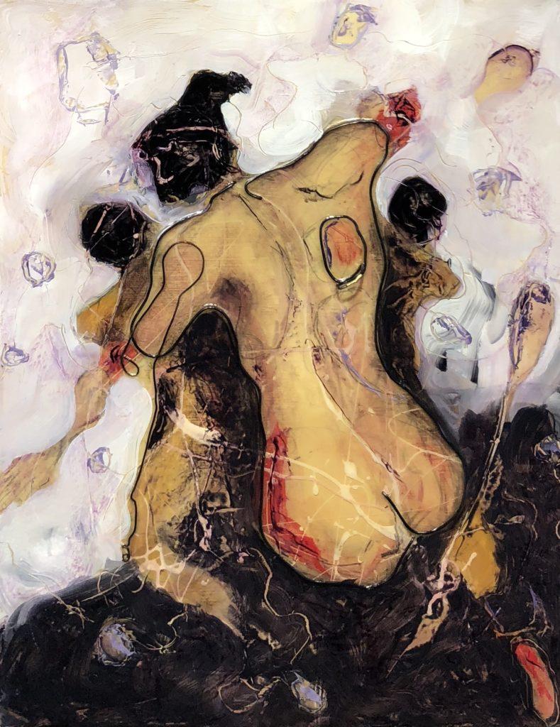 Birth of immortality Abstract art By Frank Marino Baker