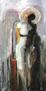 Red chair 12x24 By Frank Marino Baker