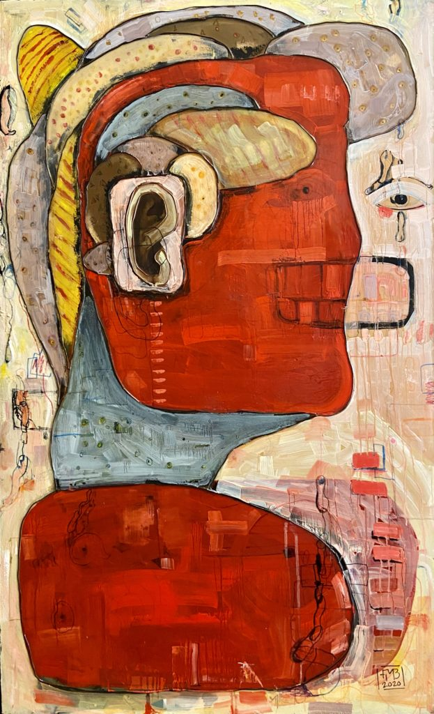 What I Feel When You Say Smile Painting Frank Marino Baker