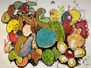 Frank Marino Baker Flower art