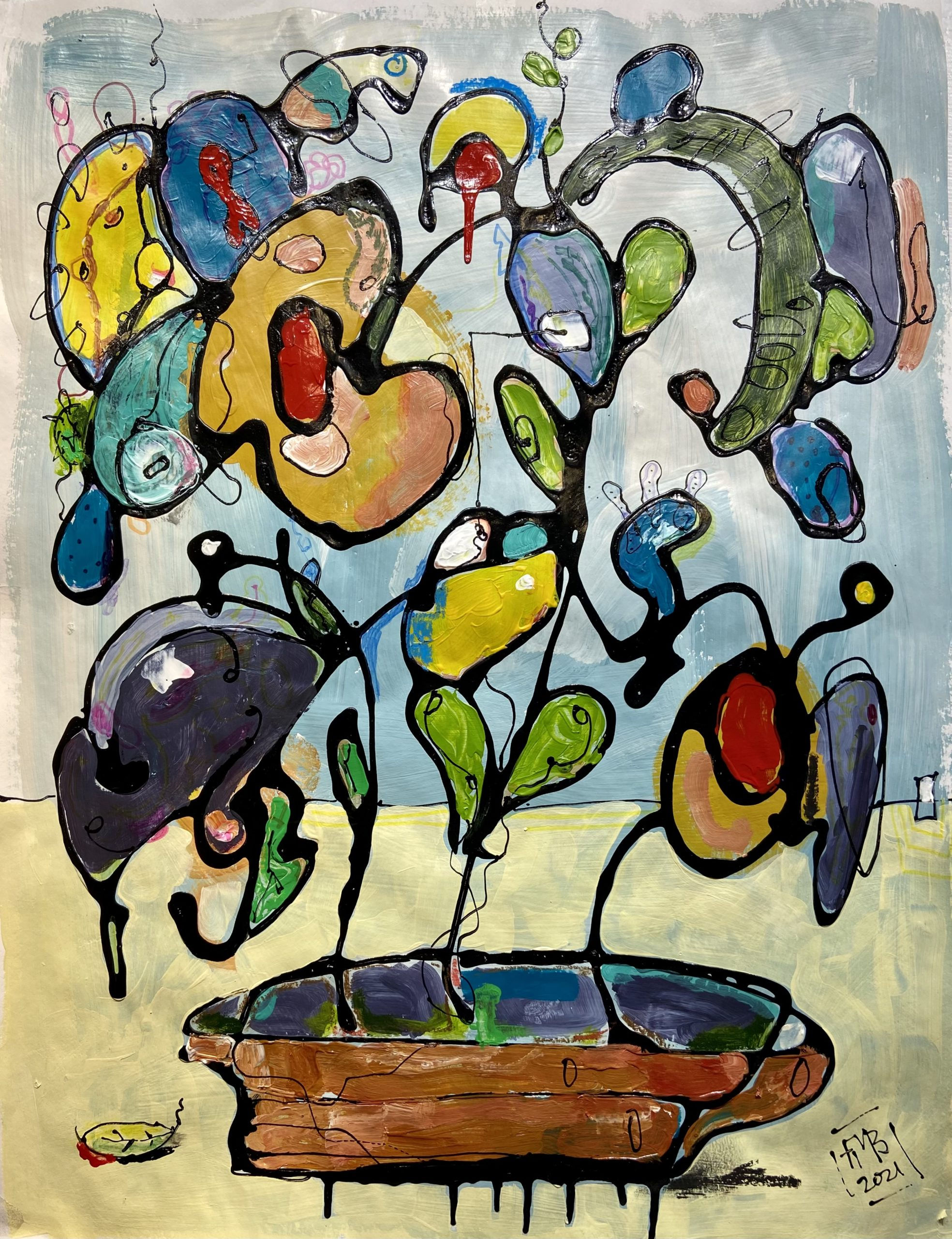 Abstract Flowers Frank Marino Baker