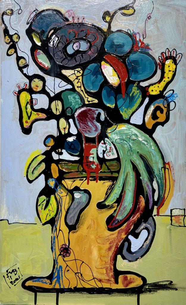Abstract Flowers Frank Marino Baker art